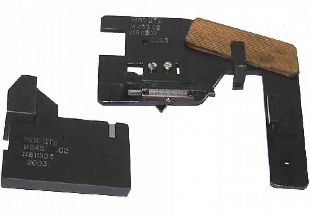 Шаблон для измерения гребневых бандажей И433.01 с контрольным шаблоном И545.00.00