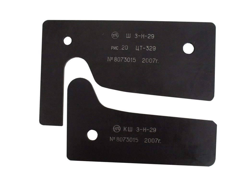 Шаблон и контршаблон профиля бандажа  по предложению Зинюка-Никитского с гребнем толщиной 33 мм