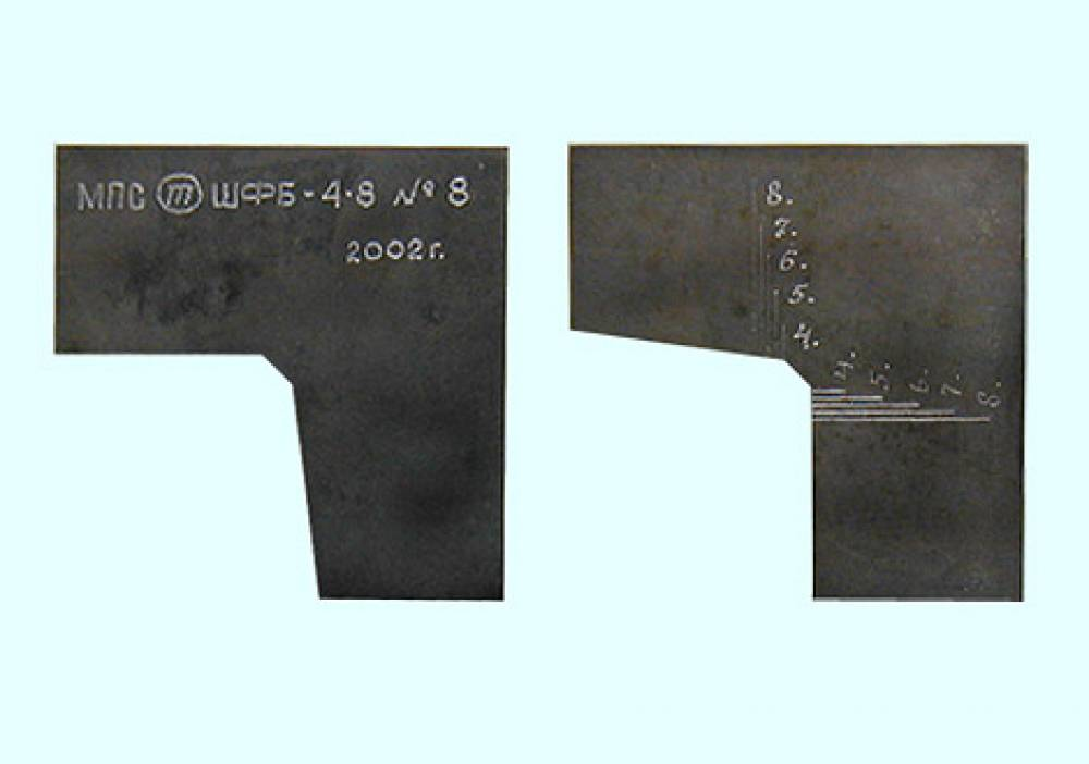 Шаблон фаски бандажа ШФБ-4-8