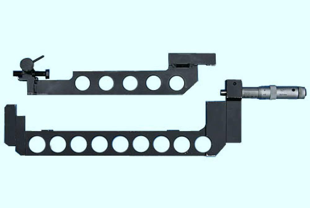 Комплект средств измерения букс моторно-осевых подшипников тяговых электродвигателей (микрометр специальный для шапки МКСШ-260-275 и измеритель натяга остова ИНО-260-275)