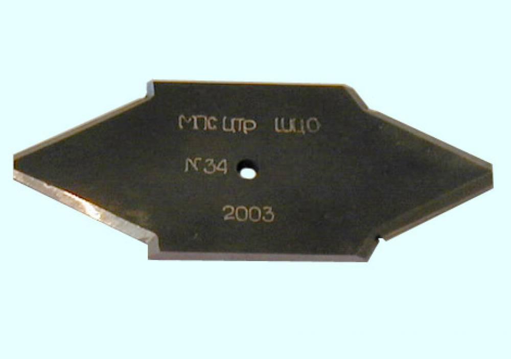 Шаблон центрового отверстия ШЦО-60 оси колесной пары (плоский, аналог МТ 026-2003)