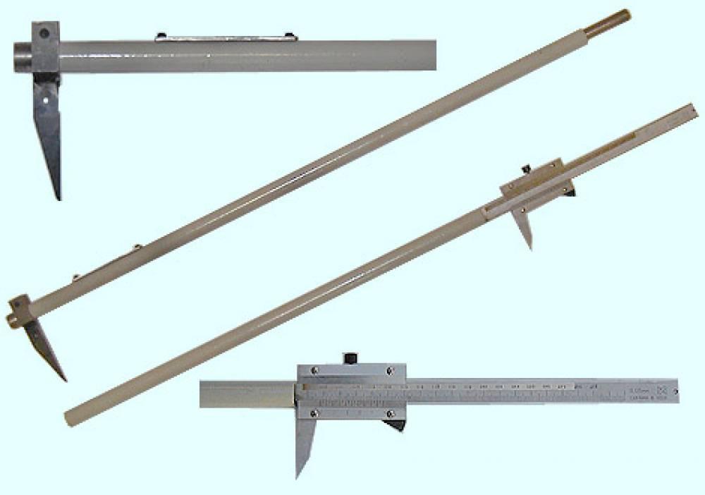 Штангенциркуль специальный середины оси  ШЦСО-1000-1170