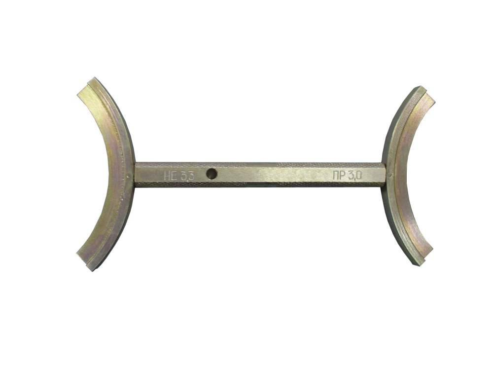 Калибры сегментные уравнительного поршня КСУП-3 (для контроля геометрии ручья уравнительного поршня крана машиниста усл. № 394, ПР+НЕ – 1+1)