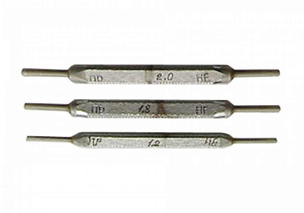 Калибры гладкие для отверстий КГО-1,2; 1,8; 2,0 (комплект № 4) для электровоздухораспределителя № 305 (ПР+НЕ - 3+3 шт.)