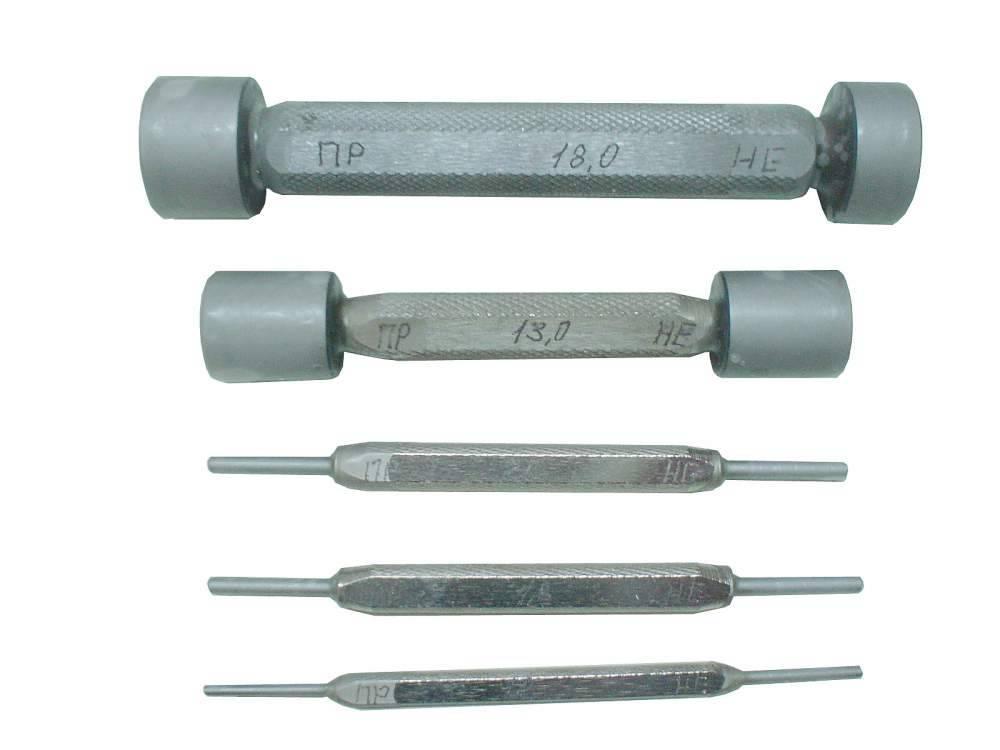 Предназначены для проверки калиброванных отверстий в деталях электровоздухораспределителя усл. №305.