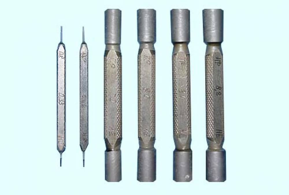 Калибры гладкие прецизионные КГПФ-0,35; 0,42; 7,0; 8,0; 8,4; 8,8 для форсунок дизеля Д50 (комплект № 11Б, ПР+НЕ - 6+6 шт.)