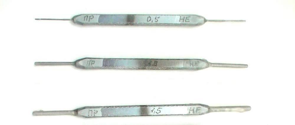Калибры гладкие для отверстий КГО-0,5; 1,0; 1,5 (квалитет Н11 по ГОСТ 21401-75, комплект № 17) для тормозного оборудования (ПР+НЕ - 3+3 шт.)