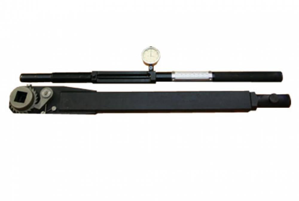 Ключ моментный индикаторный специальный с переходником, с храповым механизмом (с трещоткой) КМИС-П-1800 (диапазон измерения от 200 до 1800 Нм, присоединительный квадрат 25х25 мм и длиной рычага 1400-1500 мм)