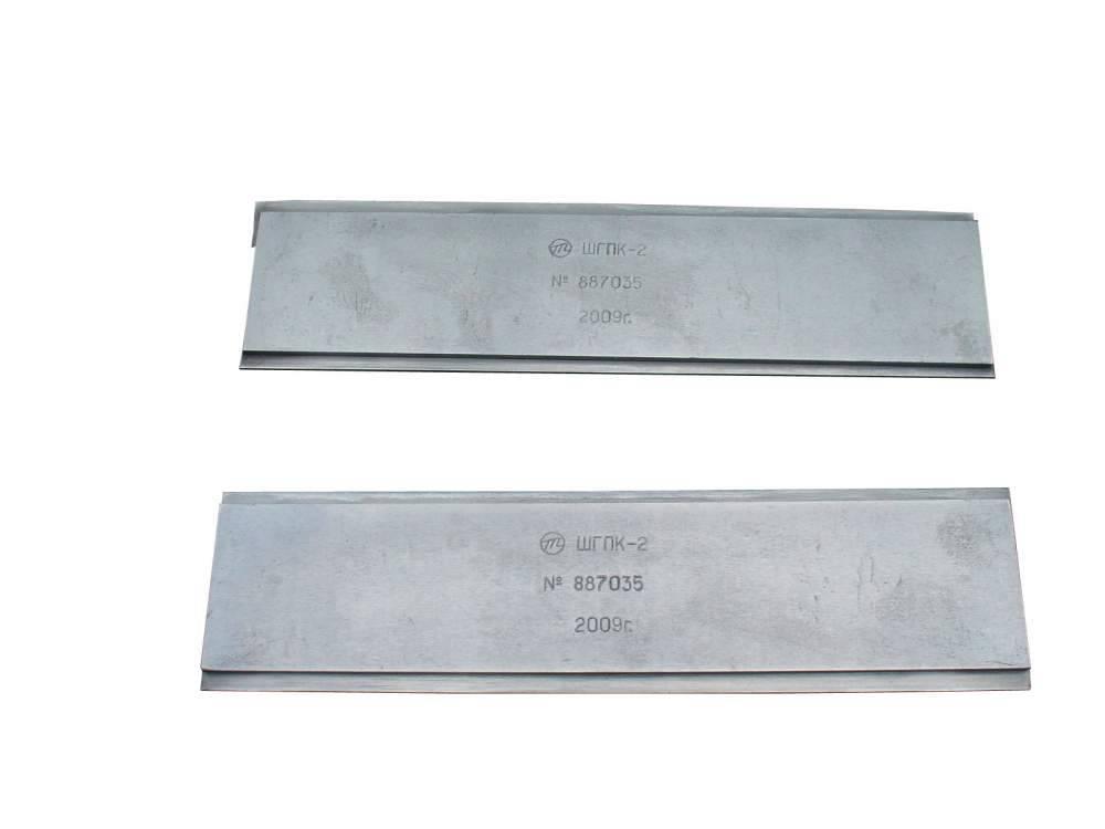 Шаблоны глубины продорожки коллектора ШГПК-2 (длиной 100 мм и глубиной 0,5; 1,0; 1,5; 2,0 мм) для тяговых электродвигателей