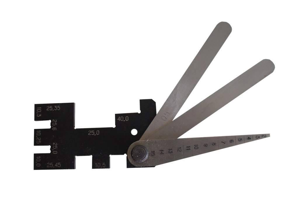 Шаблон и щупы ШЭМ-ДК-409 для коллеторно-щеточного узла электродвигателей компрессоров электропоездов