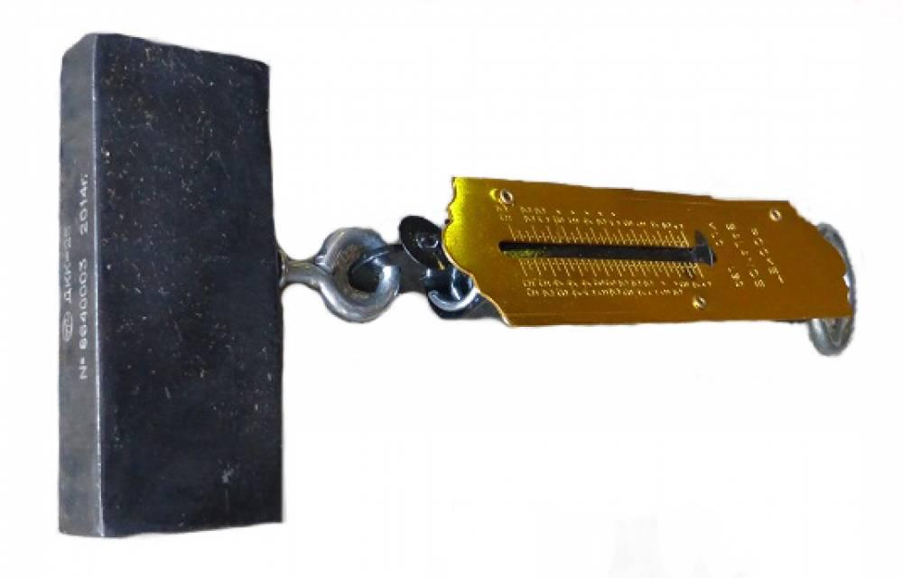 Динамометр контроля силы открытия-закрытия тормозного концевого крана ДКК-25